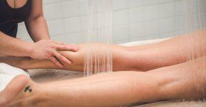 masaje piernas | Hotel Balneario Caldaria Arnoia
