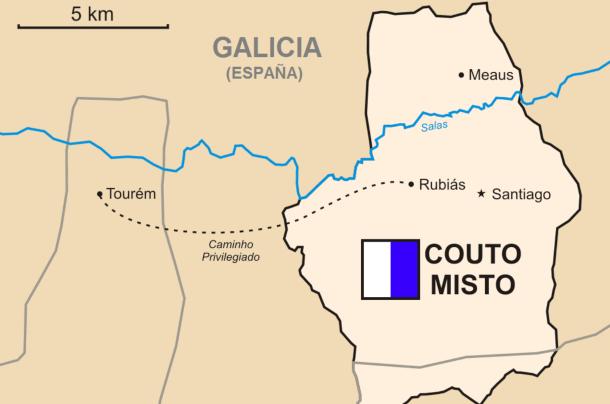 Mapa del Couto Mixto